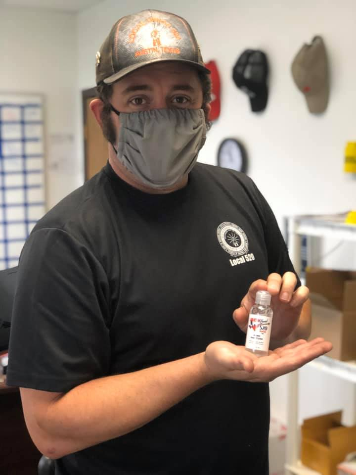 IBEW Local 520 Donates Hand Sanitizer To Local Businesses During Pandemic