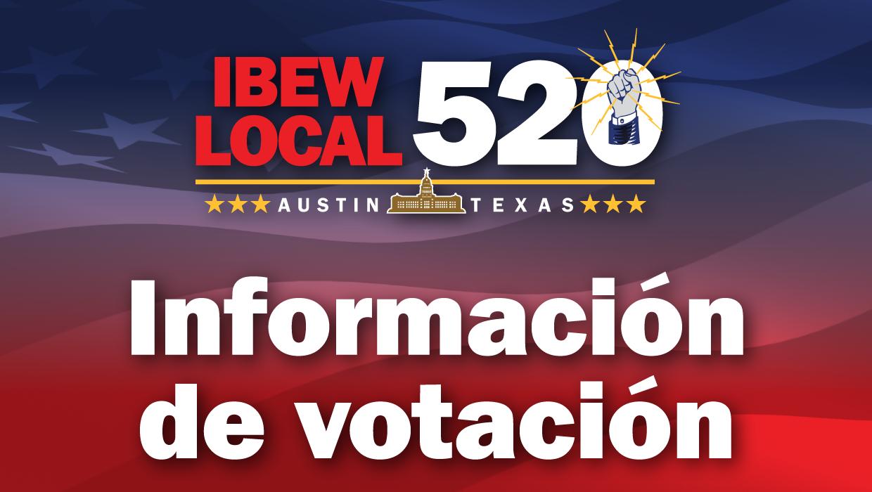 Información De Votación De IBEW 520