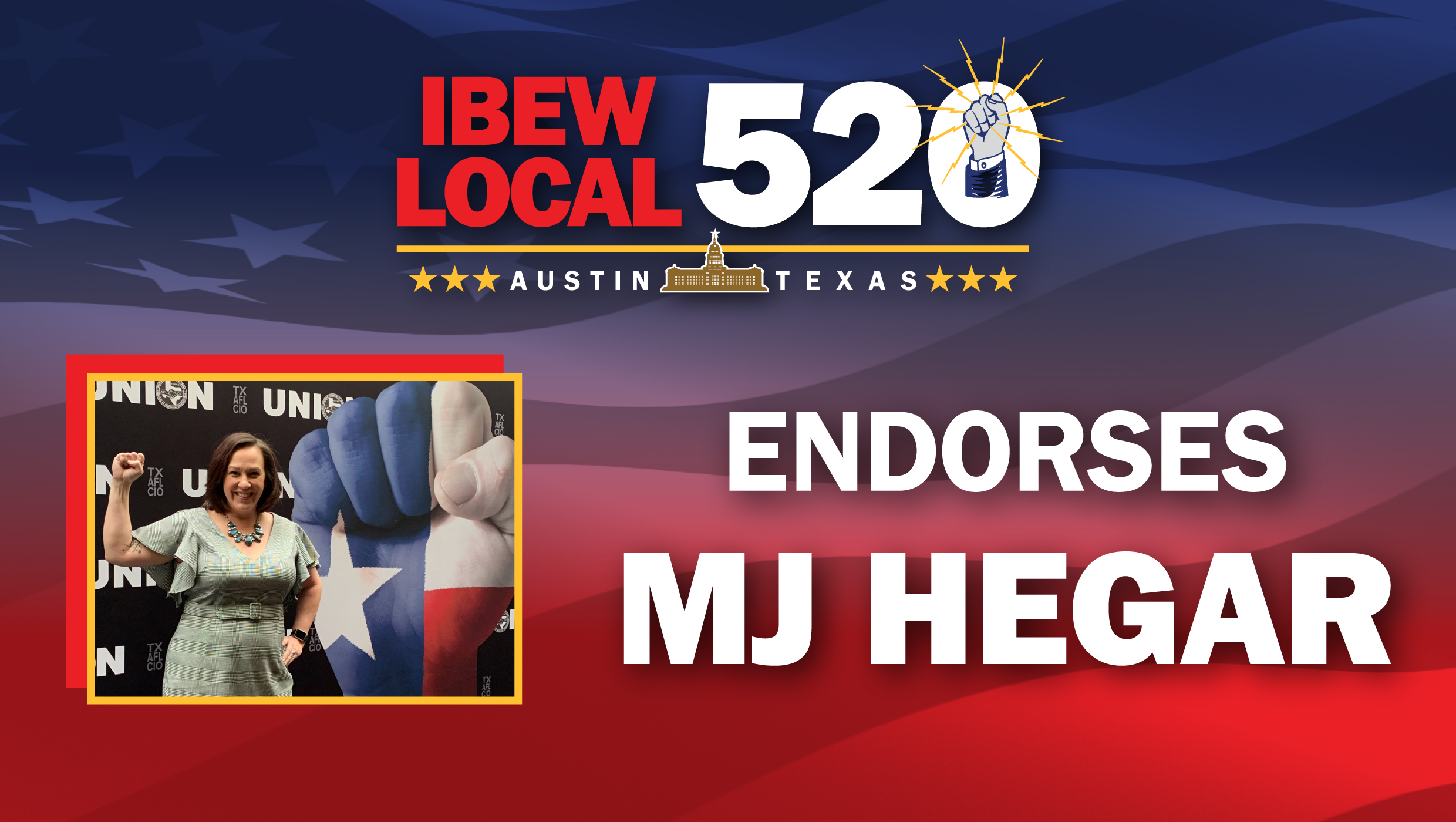 IBEW Local 520 Endorses MJ Hegar